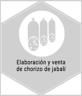Servicios. Elaboración y venta de chorizo de jabalí. Centro de caza Murieta Navarra