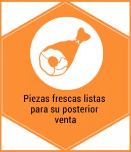 Servicios. Piezas frescas listas para su posterior venta. Centro de caza Murieta Navarra